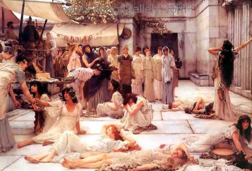AML0018 - Alma-Tadema Reproduction Art Oil Painting