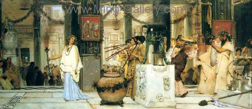 AML0025 - Alma-Tadema Reproduction Art Oil Painting
