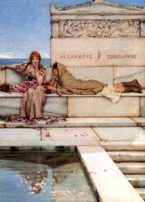 AML0030 - Alma-Tadema Reproduction Art Oil Painting