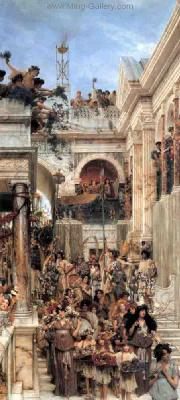 AML0050 - Alma-Tadema Reproduction Art Oil Painting