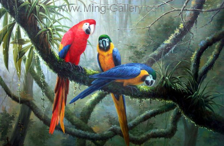 ANB0009 - Oil Painting of Birds for Sale