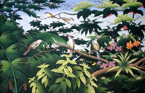 ANB0016 - Oil Painting of Birds for Sale