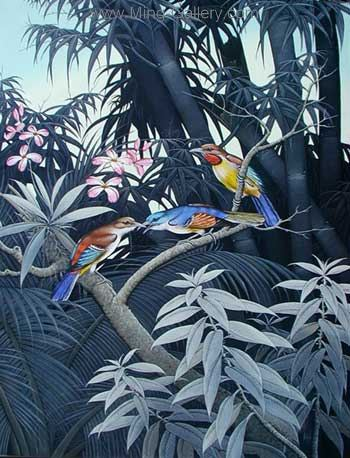 ANB0017 - Oil Painting of Birds for Sale