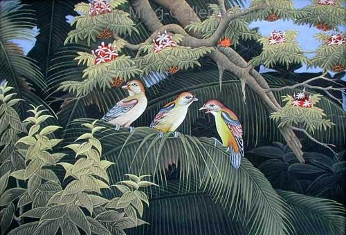 ANB0029 - Oil Painting of Birds for Sale