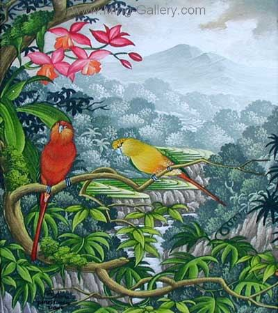 ANB0045 - Oil Painting of Birds for Sale