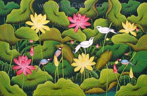 ANB0047 - Oil Painting of Birds for Sale