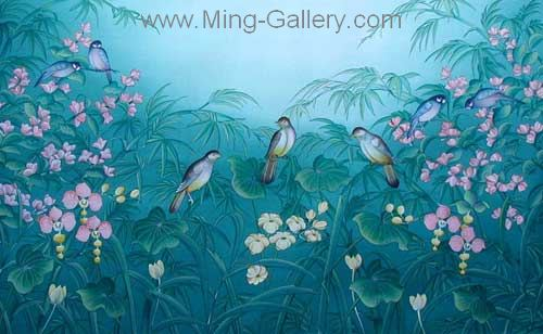 ANB0050 - Oil Painting of Birds for Sale