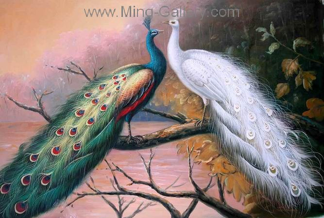 ANE0003 - Oil Painting of Birds for Sale