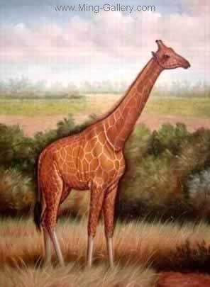 ANG0002 - Giraffe Painting for Sale