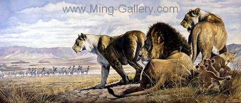 ANL0010 - Wildlife Art Painting