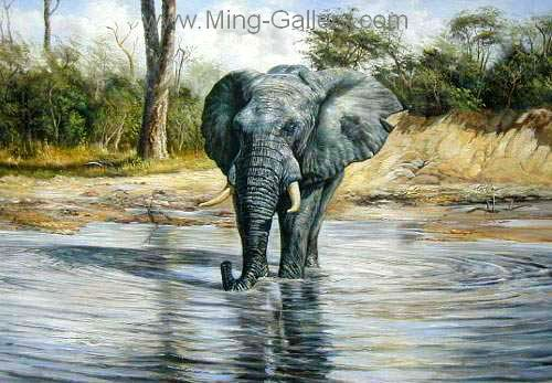 ANP0003 - Oil Painting of Elephant