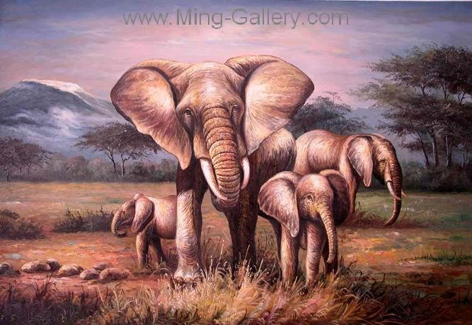 ANP0004 - Oil Painting of Elephant