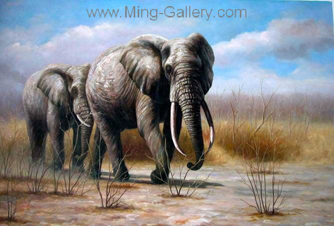ANP0006 - Oil Painting of Elephant