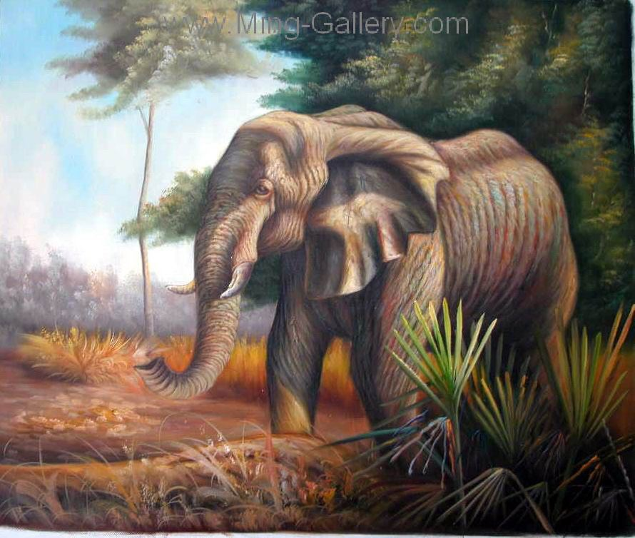 ANP0007 - Oil Painting of Elephant