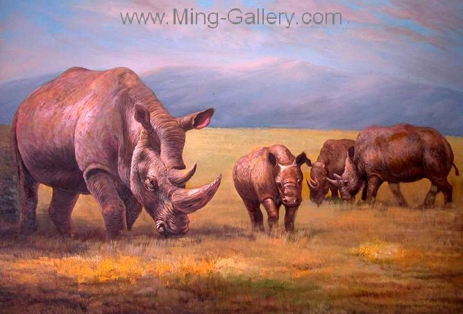 ANR0002 - Wildlife Oil Painting