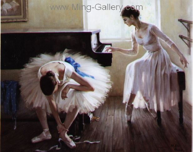 BAL0004 - Painting of Ballet Dancers Art for Sale