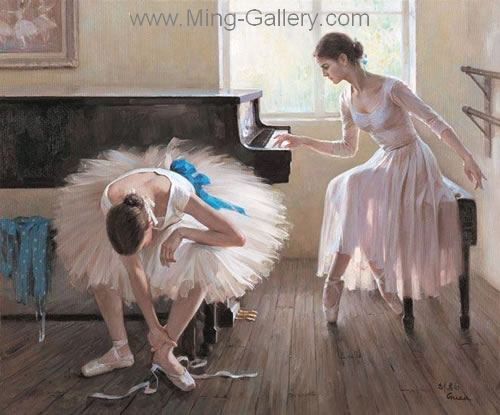 BAL0011 - Painting of Ballet Dancers Art for Sale