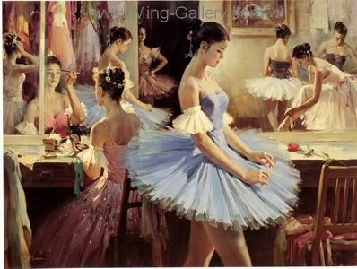 BAL0033 - Painting of Ballet Dancers Art for Sale