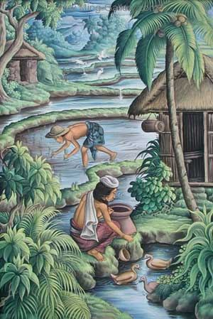 BAT0015 - Traditional Balinese Art Painting