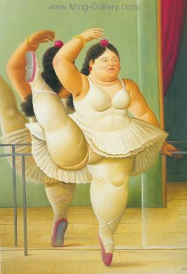 BOT0001 - Botero Art Reproduction Painting
