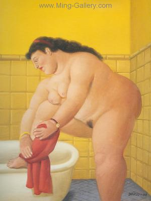 BOT0002 - Botero Art Reproduction Painting