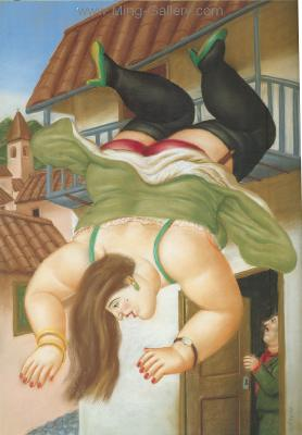 BOT0004 - Botero Art Reproduction Painting