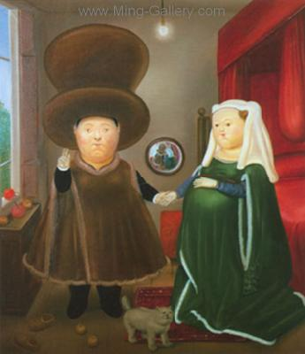 BOT0034 - Botero Art Reproduction Painting