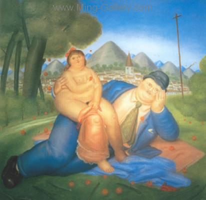 BOT0038 - Botero Art Reproduction Painting