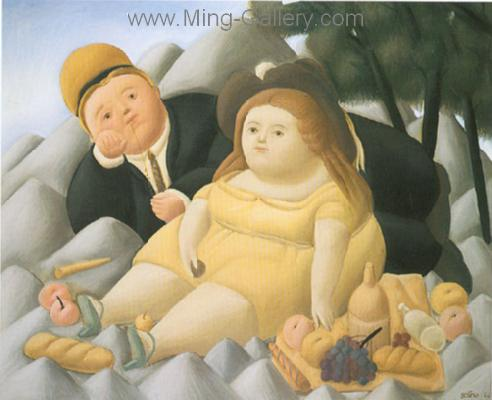 BOT0039 - Botero Art Reproduction Painting
