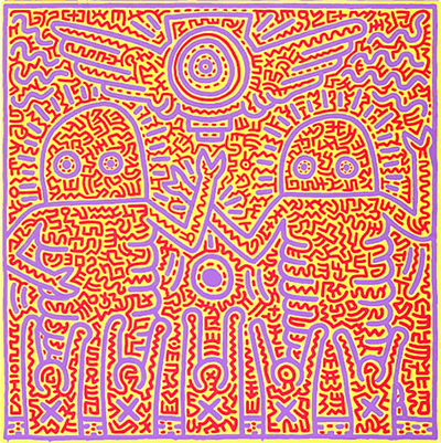 Hari13 - Keith Haring Art Reproduction Painting