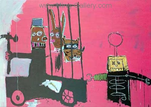 JMB0003 - JeanMichel Basquiat Reproduction Art Oil Painting