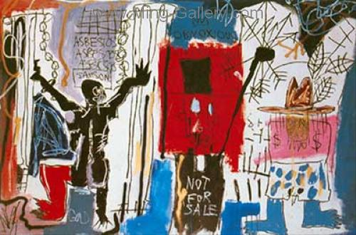 JMB0004 - JeanMichel Basquiat Reproduction Art Oil Painting