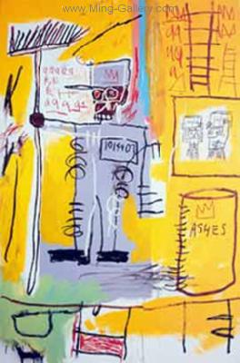 JMB0008 - JeanMichel Basquiat Reproduction Art Oil Painting