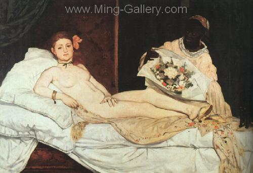 MAN0012 - Manet Impressionist Painting Reproduction Art