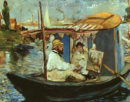 MAN0014 - Manet Impressionist Painting Reproduction Art