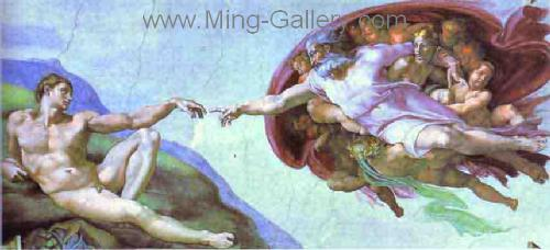 MIC0001 - Michelangelo Oil Painting Copy