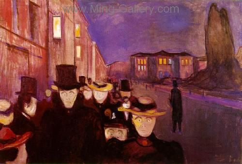 MUN0010 - Munch Expessionist Art Oil Painting