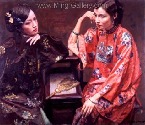 PRT0199 - OilonCanvas Painting of Oriental Lady for Sale
