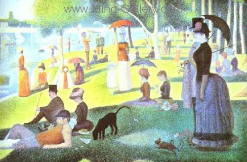 SEU0001 - Georges Seurat Impressionist Painting Reproduction