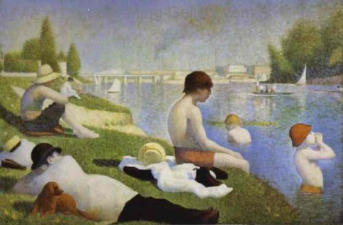 SEU0004 - Georges Seurat Impressionist Painting Reproduction