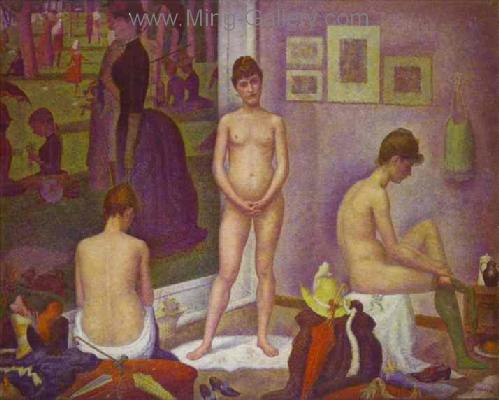 SEU0007 - Georges Seurat Impressionist Painting Reproduction