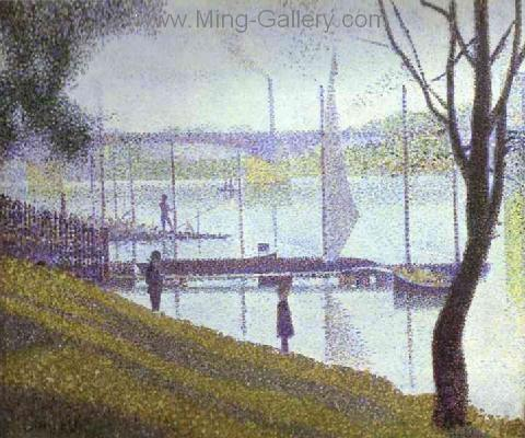 SEU0010 - Georges Seurat Impressionist Painting Reproduction