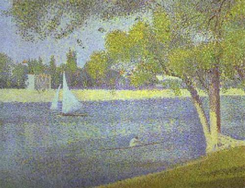 SEU0024 - Georges Seurat Impressionist Painting Reproduction