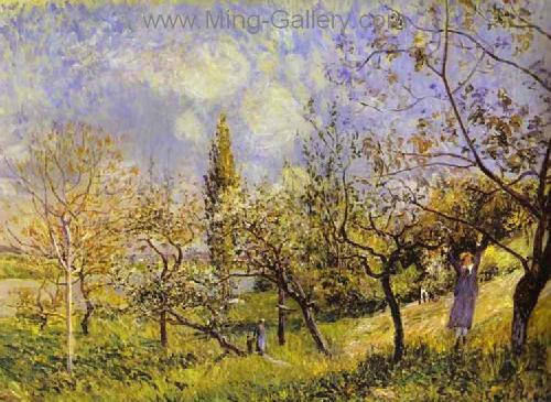 SIS0001 - Alfred Sisley Impressionist Art Reproduction Painting