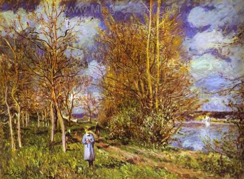 SIS0002 - Alfred Sisley Impressionist Art Reproduction Painting