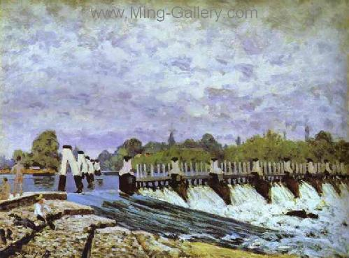 SIS0005 - Alfred Sisley Impressionist Art Reproduction Painting