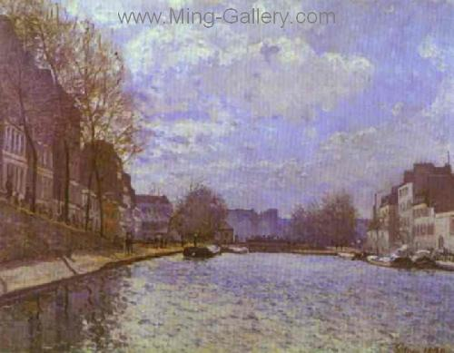 SIS0006 - Alfred Sisley Impressionist Art Reproduction Painting