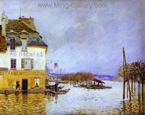 SIS0007 - Alfred Sisley Impressionist Art Reproduction Painting