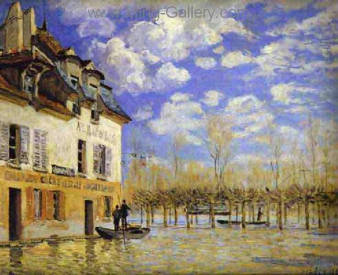 SIS0008 - Alfred Sisley Impressionist Art Reproduction Painting