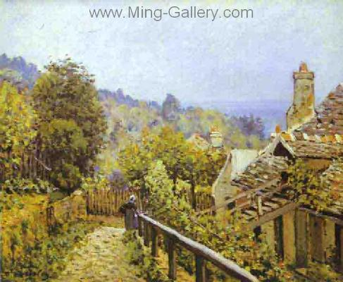 SIS0012 - Alfred Sisley Impressionist Art Reproduction Painting